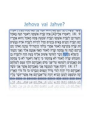 cover image of Jehova vai Jahve?