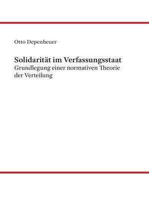 cover image of Solidarität im Verfassungsstaat