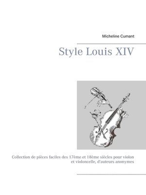cover image of Style Louis XIV