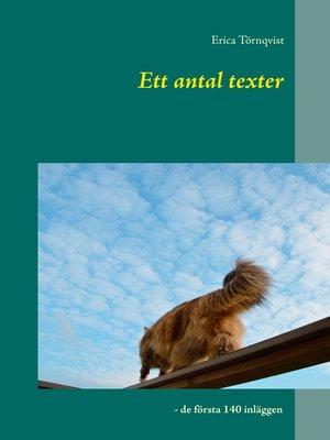 cover image of Ett antal texter