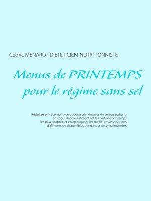 cover image of Menus de printemps pour le régime sans sel