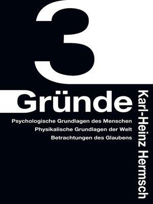 cover image of 3 Gründe