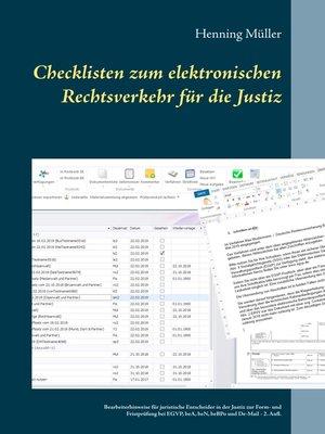 cover image of Checklisten zum elektronischen Rechtsverkehr für die Justiz