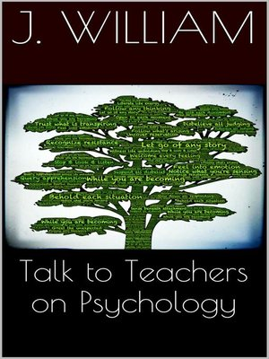 cover image of Talks to Teachers On Psychology