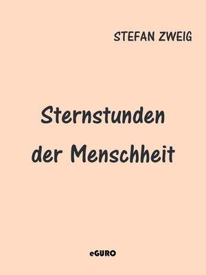 cover image of Sternstunden der Menschheit