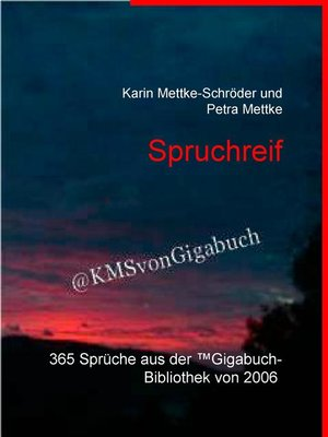 cover image of Spruchreif