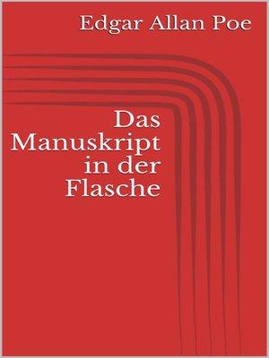 cover image of Das Manuskript in der Flasche