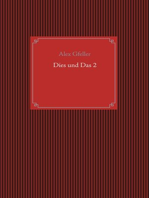 cover image of Dies und Das 2