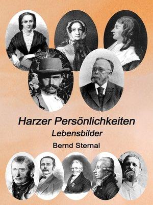 cover image of Harzer Persönlichkeiten