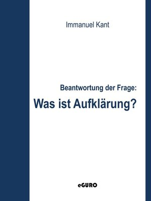 cover image of Beantwortung der Frage