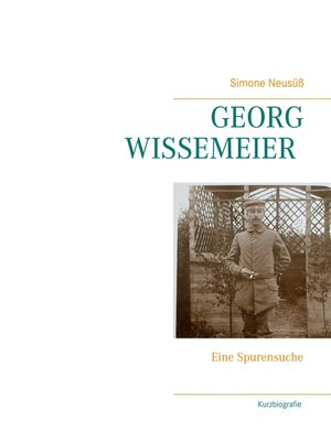 cover image of Georg Wissemeier (1891--1971)