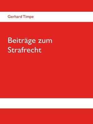 cover image of Beiträge zum Strafrecht