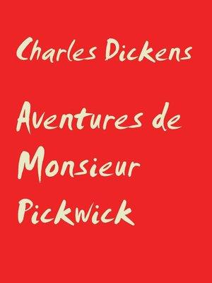 cover image of Aventures de Monsieur Pickwick