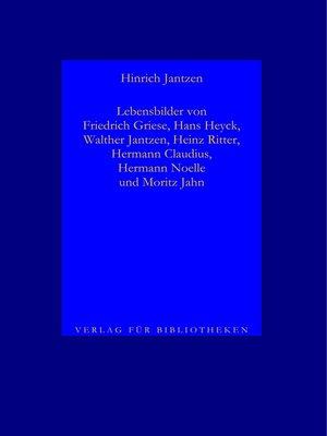 cover image of Lebensbilder von Dichtern II, 1