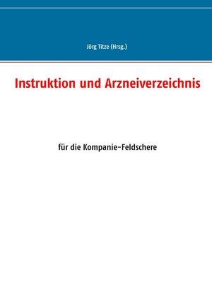cover image of Instruktion und Arzneiverzeichnis