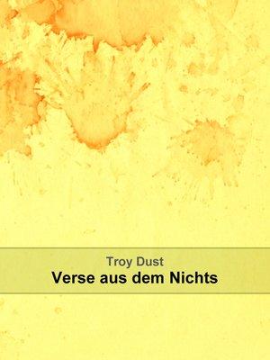 cover image of Verse aus dem Nichts