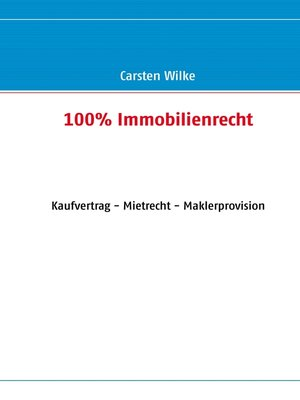 cover image of 100% Immobilienrecht