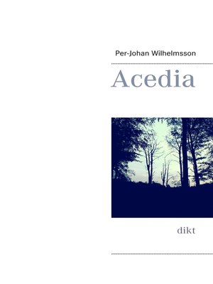 cover image of Acedia