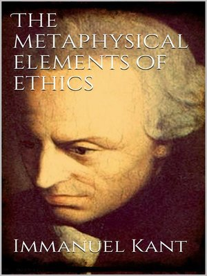 cover image of The Metaphysical Elements of Ethics