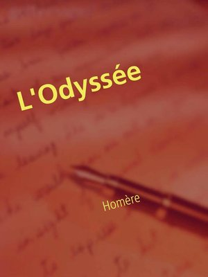 cover image of L'Odyssée