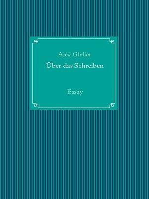 cover image of Über das Schreiben