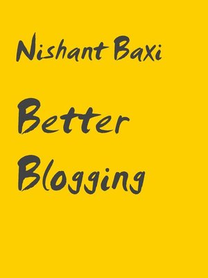 cover image of Better Blogging