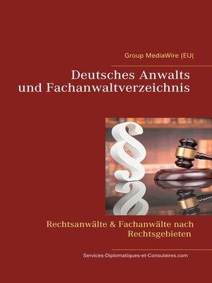 cover image of Deutsches Anwalts und Fachanwaltverzeichnis