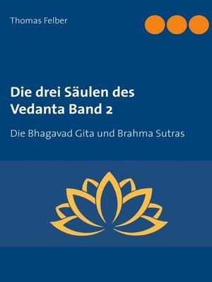 cover image of Die drei Säulen des Vedanta Band 2