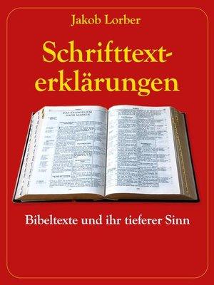 cover image of Schrifttexterklärungen
