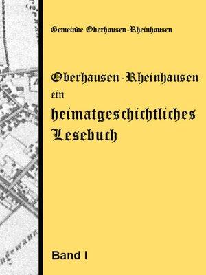 cover image of Oberhausen-Rheinhausen--ein heimatgeschichtliches Lesebuch
