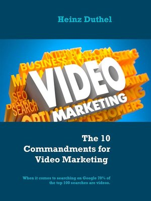 cover image of The 10 Commandments for Video Marketing