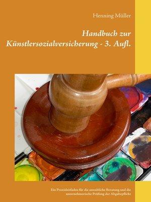 cover image of Handbuch zur Künstlersozialversicherung