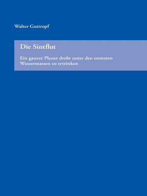 cover image of Die Sintflut