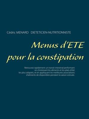 cover image of Menus d'été pour la constipation