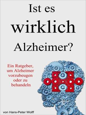 cover image of Ist es wirklich Alzheimer?
