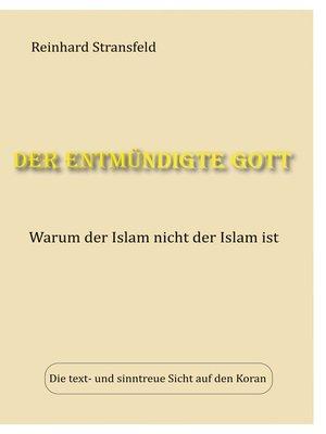 cover image of Der entmündigte Gott