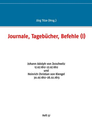 cover image of Journale, Tagebücher, Befehle (I)