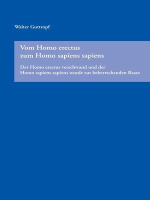 cover image of Vom Homo erectus zum Homo sapiens sapiens