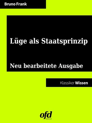 cover image of Lüge als Staatsprinzip