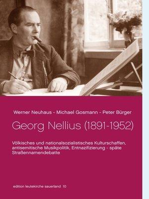 cover image of Georg Nellius (1891-1952)
