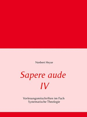 cover image of Sapere aude IV