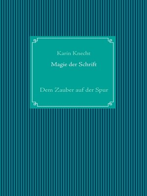 cover image of Magie der Schrift