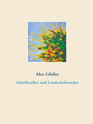 cover image of Schriftsteller und Landschaftsmaler
