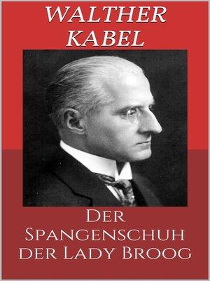 cover image of Der Spangenschuh der Lady Broog