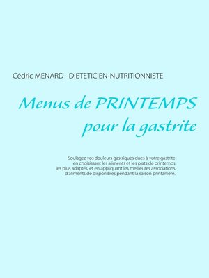cover image of Menus de printemps pour la gastrite