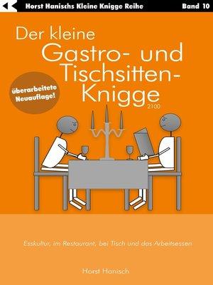 cover image of Der kleine Gastro- und Tischsitten-Knigge 2100