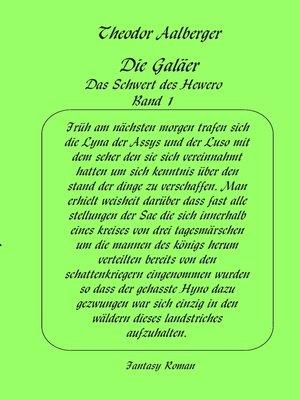cover image of Die Galäer--Das Schwert des Hewero