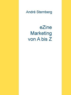 cover image of eZine Marketing von a bis Z