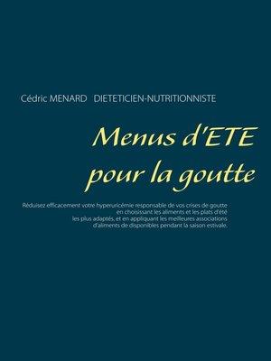 cover image of Menus d'été pour la goutte