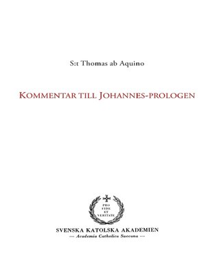 cover image of Kommentar till Johannes-prologen